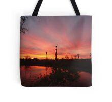 Sunset Lightshow Tote Bag