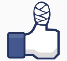 thumbs up, facebook, like it, bandage wrapped around an injured finger Kids Clothes