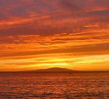 Fiery Maui Sunset by Stephen Vecchiotti
