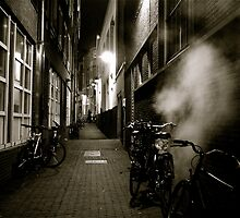 STEAMY  ALLEY AMSTERDAM by Scott  d'Almeida