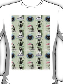 French Kitty Collage T-Shirt