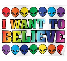 Rainbow I Want to Believe Poster