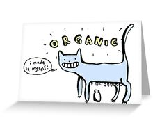 Organic Milk Greeting Card