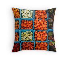 Rows of Peppers Throw Pillow
