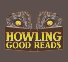 Howling good reads bookstore logo The Others reading series fan art Kids Clothes