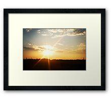 Saskatchewan Sunset Framed Print