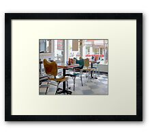 Fifties Diner Deco Framed Print
