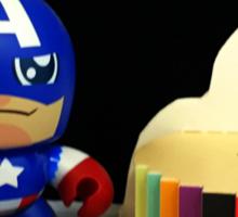 Captain America Birthday Sticker