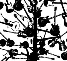 Guitars Tree Roots Sticker