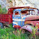 Red Truck of Benitses Corfu by fruitcake