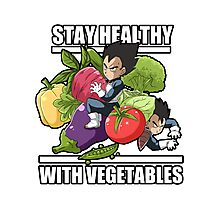 stay healthy with VEGETAbles Photographic Print