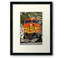 BNSF 5405 works thru Abo Canyon Framed Print