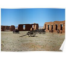 Wagons and Barracks, Fort Union New Mexico Poster