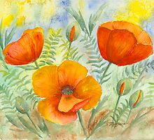 Poppies by Day by Joan Maguire
