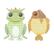 Frog & Fish by Jean Gregory  Evans