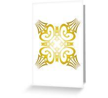 Group Meditation - Gold Greeting Card