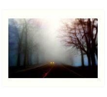 Distant Headlights Art Print