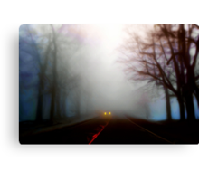 Distant Headlights Canvas Print