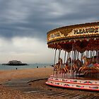 West pier Brighton & carousel by fasteddie42