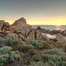 Canal Rocks Sunset 2 by Geoffrey Chang