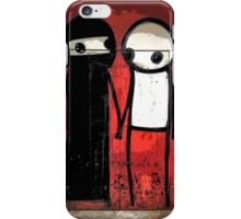 Street art by Stik in the Shoreditch area of London iPhone Case/Skin