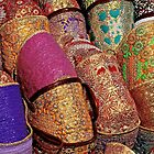 Marrakech - Cabas colorés by Jean-Luc Rollier
