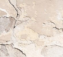 Old cracked paint texture broken wall  by Arletta Cwalina