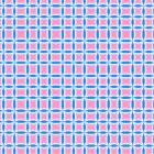 Abstract Pattern of Pink and Blue Squares by Shelley Neff
