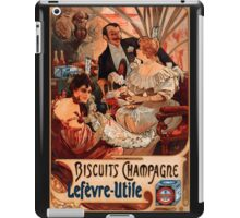 Biscuits Lefevre-Utile 2' by Alphonse Mucha (Reproduction). iPad Case/Skin