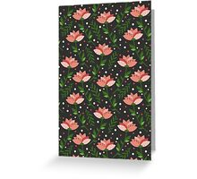 Floral grey pattern Greeting Card