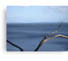 Squally wind over Eggs and Bacon Bay Canvas Print