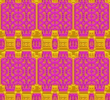Pink and Gold Baroque Pattern, Unique Design. by TK0920