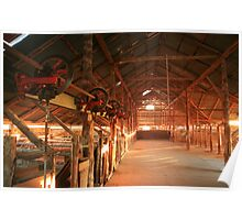Dawn penetrates a Shearing Shed, Mungo National Park, Australia Poster