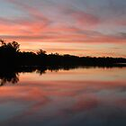 Sunset on the Murray by Donnabug
