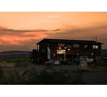 pizza in the desert Photographic Print