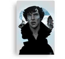 Sherlock - Outline portrait  Canvas Print