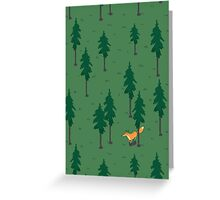 Fox in the woods. Greeting Card