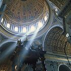 St Peters Basilica and the God-Beams by McAdooImages