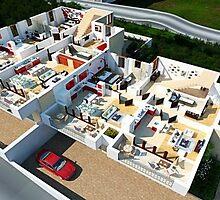 3D Home Floor Plan by 3dwalkthrough