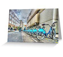 Borris Bikes Greeting Card