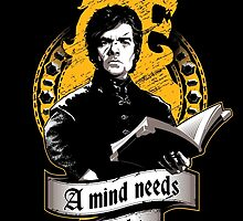A Mind Needs Books (Gold) by Inaco
