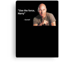 """""""Use the force, Harry"""" - Gandalf Canvas Print"""