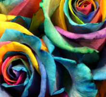 Colorful Bouquet of Rainbow Roses Sticker