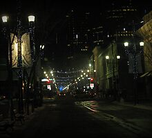 New Years Eve Streetscene by Leanna Lomanski