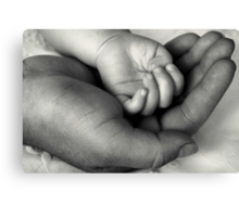 My World In Your Hand Canvas Print