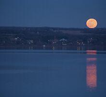 Cayuga Moonrise by mklue