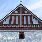 Gingerbread Cathedral Under Painted Sky by M-EK