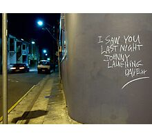 Johnny's Laughter Photographic Print