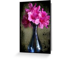 Vase of Azaleas Greeting Card