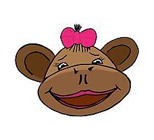 cartoon style monkey head Photographic Print